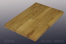Tischplatte 40mm Eiche  Massivholzplatte 60-150cm Länge