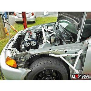 FOR HONDA CIVIC EG9 4 DOOR SEDAN ULTRA RACING 3 POINTS FRONT FENDER BRACE BARS
