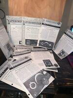 The General Radio Experimenter Magazine 1954, 11 Issues!