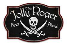 "24"" Jolly Roger Pub Metal Wall Sign"