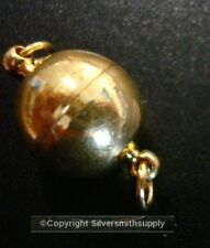 12mm Smooth ball strong magnetic jewelry clasp yellow Gold plated fpc112