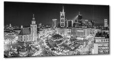 Leinwand Frankfurt Zeil Hauptwache Weihnachstmarkt Panorama Skyline Schwarzweiß