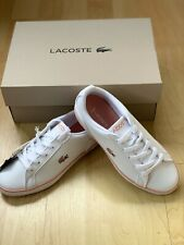 Kids Girls Lacoste Lerond 119 1 JD CUC White Leather Trainers 7-37CUC00291Y9