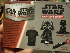 Star Wars Smuggler's Bounty Box Darth Vader Cheat Sheet (NEW)
