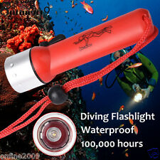 Underwater Diving Flashlight Waterproof CREE XML T6 LED 1500LM Powerful Torch