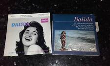 """RARE LOT DE 2 DISQUES 45T EP 60's ! """" DALIDA """""""