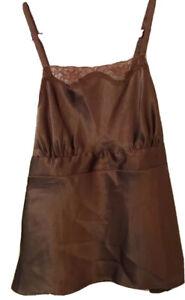 NWOT Susan Lucci Brown Cami Lace Size Large