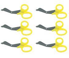 6 Yellow Utility Scissors Emtems Shears Bandage Paramedic Nurse Supplies 725