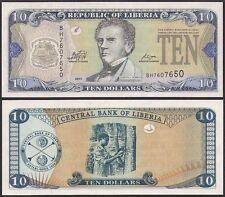 LIBERIA 10 DOLLARS 2011 UNCIRCULATED