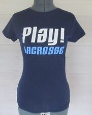New with Tag Ladies Blue Lax World Play! Lacrosse T Shirt Size Medium