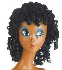 Ladies Black Curly Wig 70'S Perm Disco Glamour Model Fancy Dress