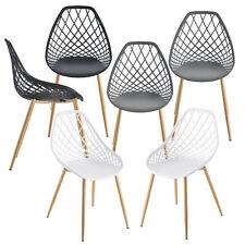 [en.casa] 2x Design Stühle Esszimmerstuhl Bürostuhl Stuhl Kunststoff Stuhlset