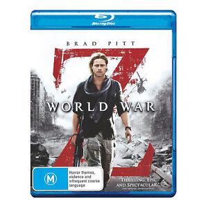 World War Z  Blu-ray  Region B  Brand New Sealed - Brad Pitt - Free Post