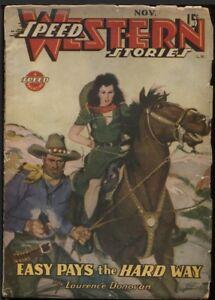 Speed (Spicy) Western 1944 November.   Pulp