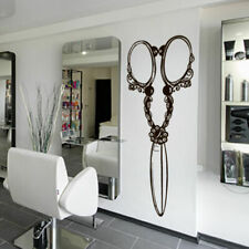 Wall Decal Hair Salon Scissors Retro Curls Beauty Hair Stylist  Barber M1436