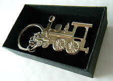 Steam Train Keyring Chrome Metal Steam Engine Keychain Gift Boxed