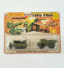 Matchbox Lesney TP-16 Military Dump Truck & Bulldozer BRAND NEW