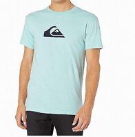 Quiksilver Mens T-Shirt Classic Light Blue Size XL Graphic Tee $22- #350