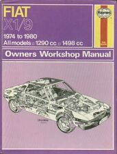 FIAT X1/9 1300 & 1500 ( 1974 - 1980 ) OWNERS WORKSHOP MANUAL