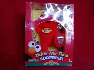 Fisher Price Sesame Street Tickle Me Elmo Surprise Plush 5th Anniversary Edition