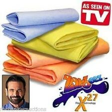 ZORBEEZ 8 Pcs 10 x13 Ultra Absorb Towel Cloth BLUE *As Seen on TV Billy Mays NEW