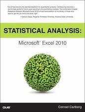 Statistical Analysis: Microsoft Excel 2010 by Carlberg, Conrad