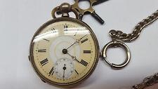 style ancien montre de poche avec clé HUIT RUBIS MONTRE fonctionnel