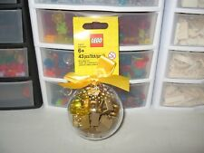 LEGO HOLIDAY BAUBLE WITH GOLD BRICKS !