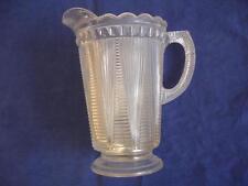 Vintage Clear Pressed Glass Pitcher Jr2707