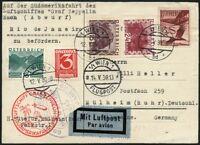 Zeppelin Österreich 1930 Südamerikafahrt Rio Zuleitungspost Si 57 M / 474