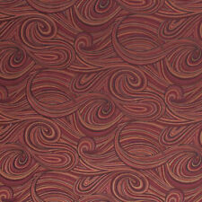 Fabric Abstract Mod Swirl Pattern Nautical Rusty Red Drapery Upholstery IL9