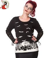 Banned Drew Bat Jumper Alternative Sweater Woodland Halloween