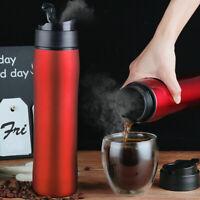 i Cafilas Portable Stainless Steel French Press Travel Mug Coffee Tea Maker