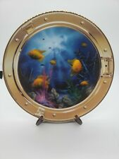 Franklin Mint Royal Doulton Neptune's Porthole Tropical Fish Plate Sea Ship