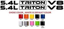 (#1) 2 x 5.4L Triton V8 Hood decals sticker emblem Ford F150 F250 F350
