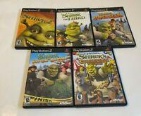 Kids Family Shrek Lot Bundle Sony PlayStation 2 PS2 SMASHN' CRASH SUPER SLAM