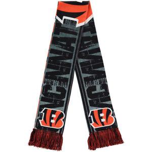 Cincinnati Bengals Scarf - Printed Big Logo  Winter Neck Double Sided Team Logo