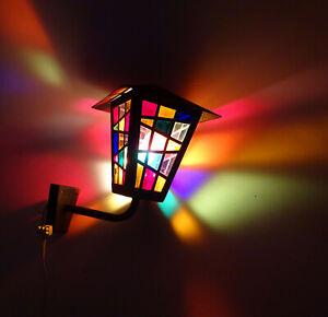 Alte Laterne Hoflampe Bleiverglasung Wandlampe vintage !
