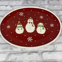 Hallmark Snowman Platter Sugar Cookie Platter Snowflakes Christmas Holiday