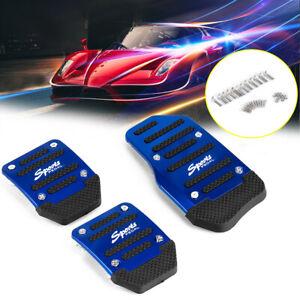 3Pcs/set Blue Non Slip Car Pedal Pad Cover Car Interior Decor Car Accessories