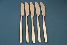 """5 Dinner Knives Dansk VARIATION V 18/10 Stainless Satin China 8 1/2"""""""