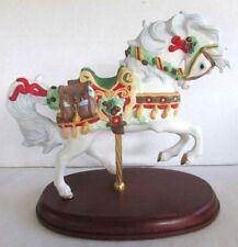 Lenox Christmas Carousel Horse - 1999 - Mint Condition - Porcelain Figurine