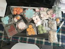 500 Mixed Paper Flowers Card making Scrapbooking craft various sizes