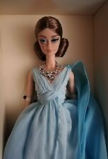 barbie blue chiffon ball gown silkstone gold label