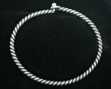 James Avery Sterling 925 Silver Twisted Wire Hook-On Bracelet 7.5""