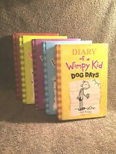 **   Diary of a Wimpy Kid Books 5 Lot HARDCOVER