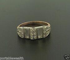 Rose Gold & Platinum Vintage Retro Deco Antique Ring Diamond Baguettes