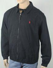 Polo Ralph Lauren Black Bayport Jacket Coat Red Pony NWT $145