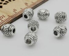 Free Ship 30Pcs Tibetan Silver Spacer Beads For Jewelry Making 6.5x6mm