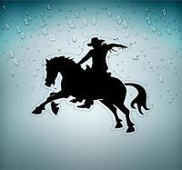 aufkleber auto moto motorrad reiter westernreiter cowboy rodeo autoaufkleber r2